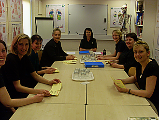 lorraine tosh with aromatherapy students
